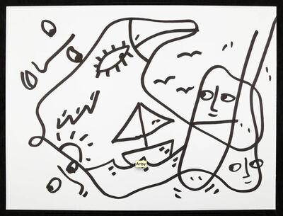 Shantell Martin, 'Bird Boat', 2014