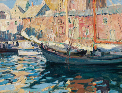 Jane Peterson, 'Gloucester Fishing Boat'