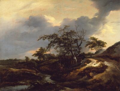 Jacob van Ruisdael, 'Landscape with Dunes', 1649