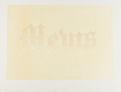 Ed Ruscha, 'Mews (Engberg 36)', 1970