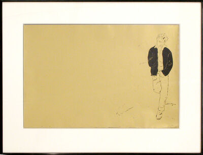 Andy Warhol, 'James Dean / Pears, (Double-sided Artwork for the Gold Book)', 1957