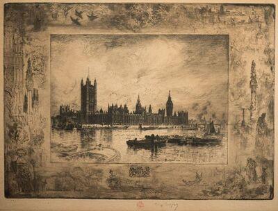 Félix Hilaire Buhot, 'Westminster Palace', 1884
