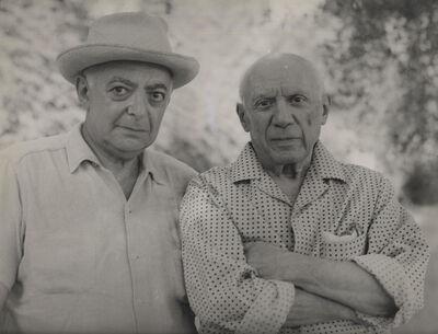 Gilberte Brassaï, 'Picasso et Brassaï', Mougins-1966