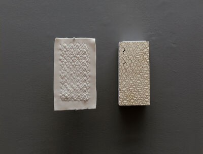 Cynthia Reynolds, 'corrugated paper brick : impression of interior and filled', 2018
