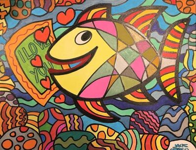 Jack Ottanio, 'Colored happy fish', 2020
