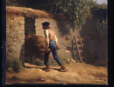 Jean-François Millet, 'Peasant with A Wheelbarrow', 1848-1852