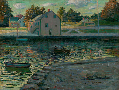 Ernest Lawson, 'Boating on the Connecticut River'