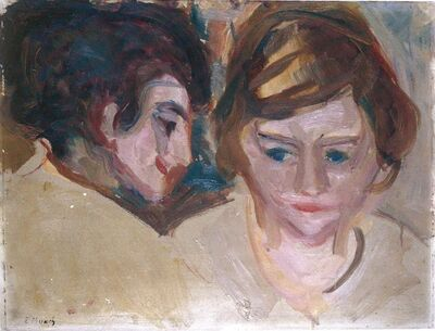 Edvard Munch, 'Double Portrait', 1918