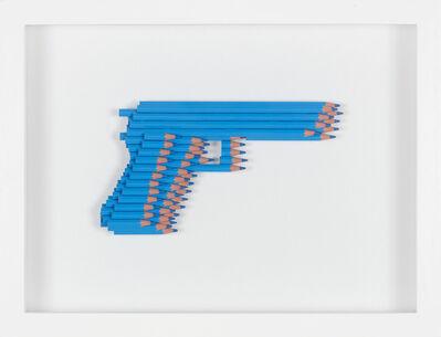 Luke Newton, 'Crayons Not Colts (light blue)', 2016