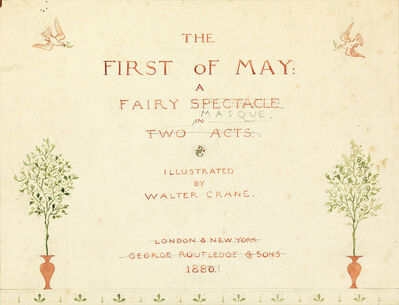 "Walter Crane, '""The First of May."" Four sheets from the first draft of Crane's book'"