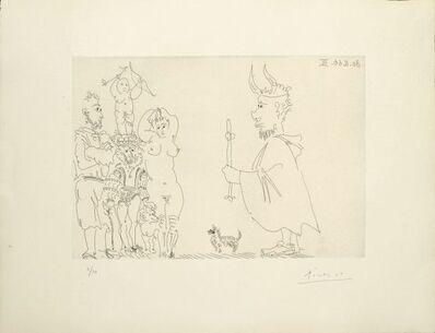 Pablo Picasso, 'Le cocu devant un groupe avec le séducteur et l'amour ', 1968