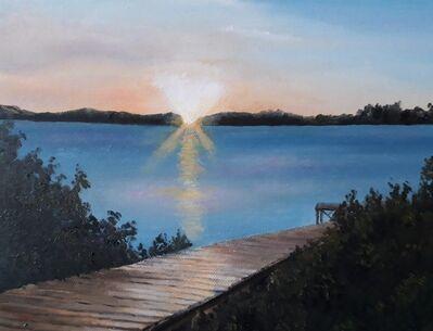 Juan J. Franchi, 'Atardecer, Muelle y Laguna', 2020