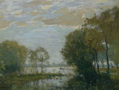 Henry Ward Ranger, 'Trees Along the River', 1899