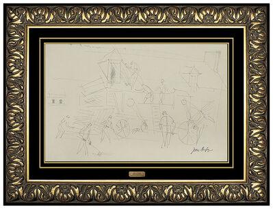 Jean Dufy, 'Jean Dufy Original Graphite Drawing Signed Authentic French Artwork Antique SBO', 20th Century