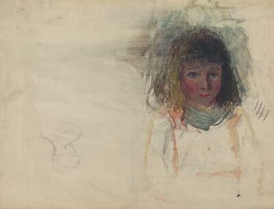 Camille Pissarro, 'The Artist's Son Georges [verso]', ca. 1880