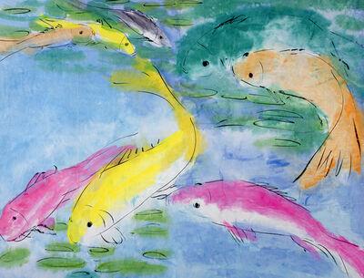Walasse Ting 丁雄泉, 'Fish', 1990