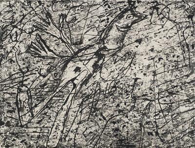Jean Dubuffet, 'Personnage dans un paysage', 1960