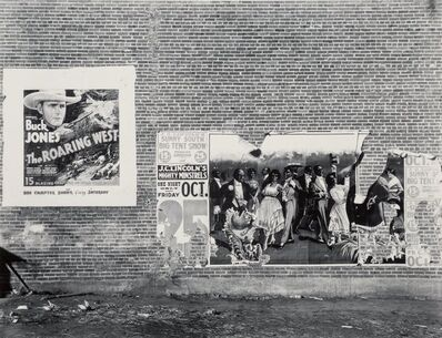 Walker Evans, 'Minstrel Showbill, Alabama', 1936