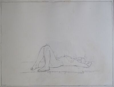 Euan Uglow, 'Drawing of L'