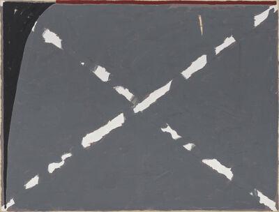 Raoul De Keyser, 'Gekruiste Krijtlijn en Spie', 1980