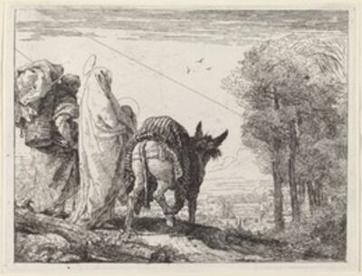 Giovanni Domenico Tiepolo, 'The Flight with the Holy Family at the Left', published 1753
