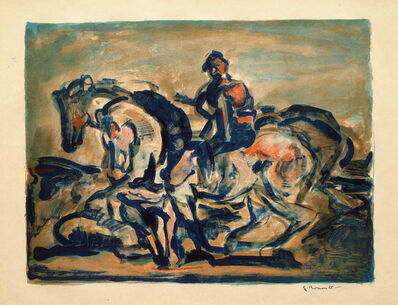 Georges Rouault, 'Man Driving a Team of Horses', 1910