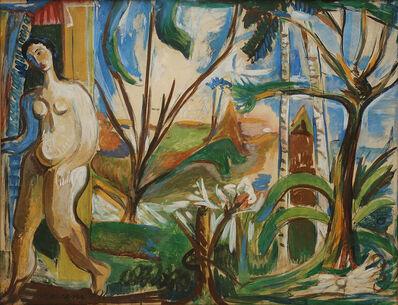 Mariano Rodriguez, 'Mujerenelpaisaje', 1943