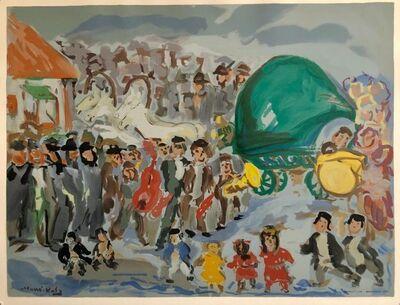 Mané-Katz, 'Colorful Russian French Judaica Jewish Shtetl Wedding Lithograph Mourlot Paris', 1960-1969
