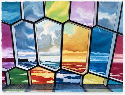 Julia Whitney Barnes, 'Bricks and Stones May Break (Iceland/Rainbow Windows) framed', 2016