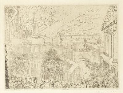 James Ensor, 'Prise d'une Ville Étrange (Cramer, Delteil, Elesh, Taevernier 33)', 1888