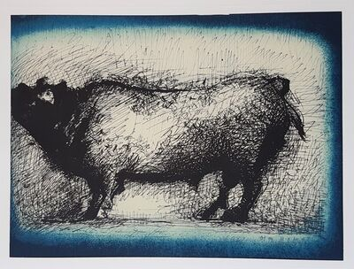 """Marino Marini, 'Bull - From """"A Suite of Sixty-three Re-creations of Drawings and Sketches in Many Mediums"""" ', 1968"""