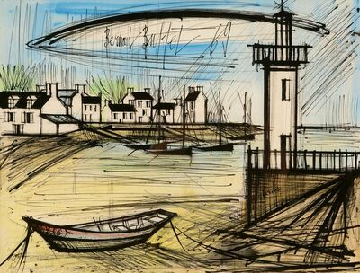 Bernard Buffet, 'Coastal Town with Lighthouse, South of France', 1969