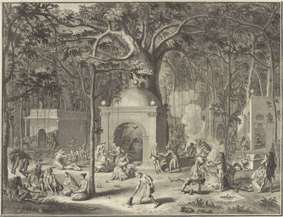 """'""""Diverses Pagodes et Penitences des Faquirs"""" (""""Various Temples and Penances of the Fa- kirs""""), from Ceremonies et coutumes religieuses des Peuples ldolatres (Ceremonies and Religious Customs of the Idolatrous Peoples)', 1729"""