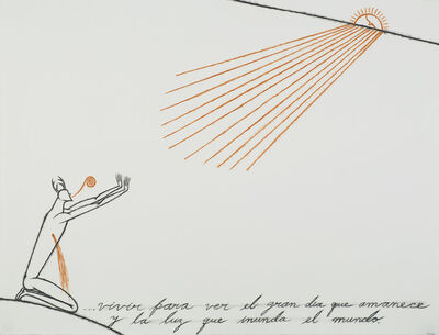 José Bedia, 'Vivir Para Ver el Gran Dia que Amaneci y la Luz Inunda el Mundo', 2001