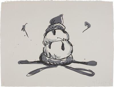 Claes Oldenburg, 'Profiterole/Gray State', 1990