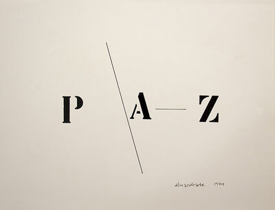Almandrade, 'Peace - Visual Poem', 1974