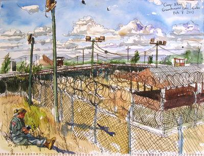 Steve Mumford, '2/7/13, Camp X-Ray, Guantanamo Bay, Cuba', 2013