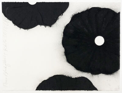 Donald Sultan, 'Three Black Flowers Feb 16 2018', 2018