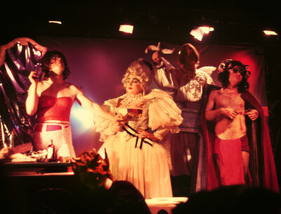 "Leandro Katz, 'Charles Ludlam and Bill Vehr's ""Turds in hell"", La Masque Theatre', 1969-1995"