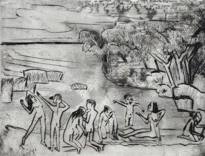 Max Pechstein, 'On the Shore', 1920