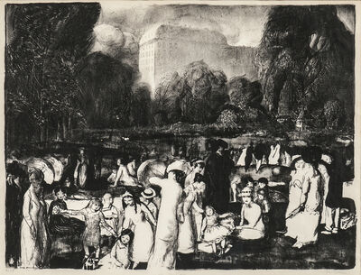 George Wesley Bellows, 'In the Park, Light', 1916