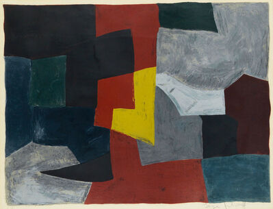 Serge Poliakoff, ' Composition grise, rouge et jaune n°27', 1960
