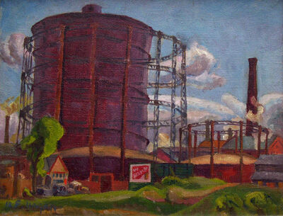 Frederick Hagan, 'Summer Gas Works', 1945
