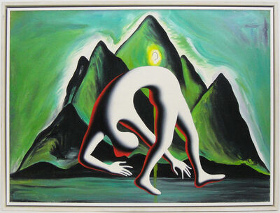 Mark Kostabi, 'Walking the walk (homage to Enzo Cucchi)', 2005