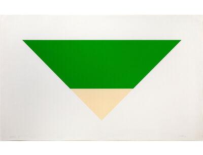Ellsworth Kelly, 'Green/White', 1970-71