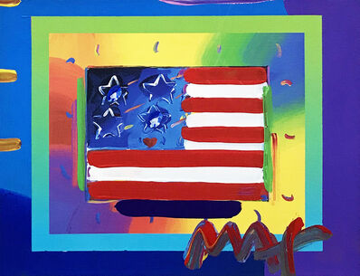 Peter Max, 'FLAG WITH HEART ON BLENDS', ca. 2000