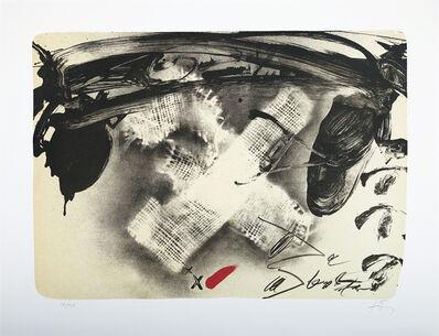 Antoni Tàpies, 'X de Tissu', 1980
