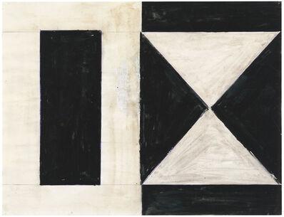 Helmut Federle, '2 Dreiecke 3 Vierecke (black white), Denver1979', 1979