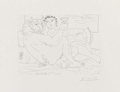 Pablo Picasso, 'Le Repose du Minoture: Champagne et Amante', May 17-1933