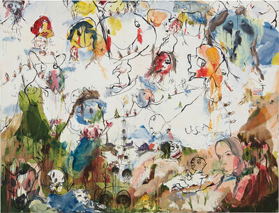 Brad Kahlhamer, 'U.S.A w/ Trees', 2000